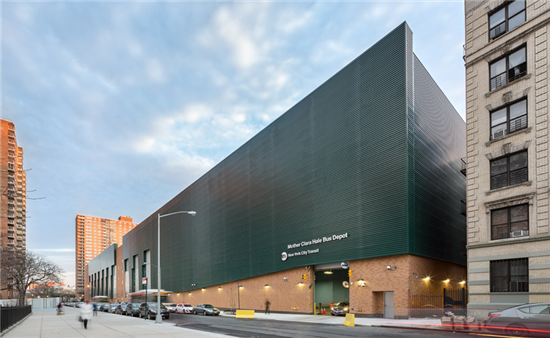 SolarWall® Air Heating System at Bus Garage, New York City, USA